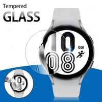 for samsung galaxy watch 4 40mm 44mm tempered glass screen protector for classic 42mm 46mm 9h anti scratch protection film