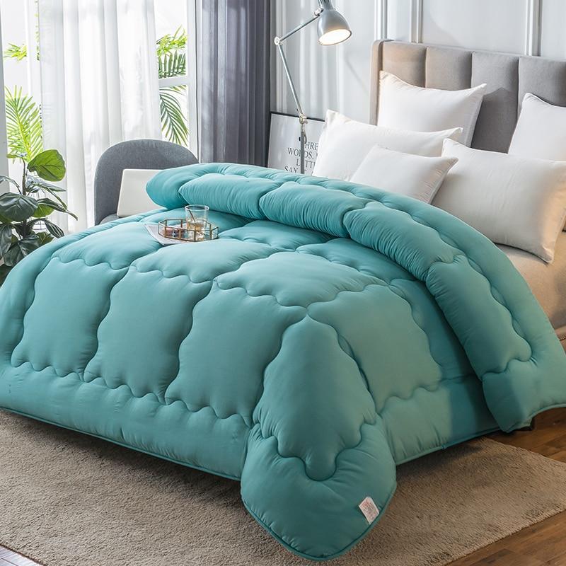 4 Seasons Down Quilt Duvet Warm Thicken Comforter Multiple Sizes Quilt Cheap Comfortable Blanket 5 Colors Choose Cotton Cover