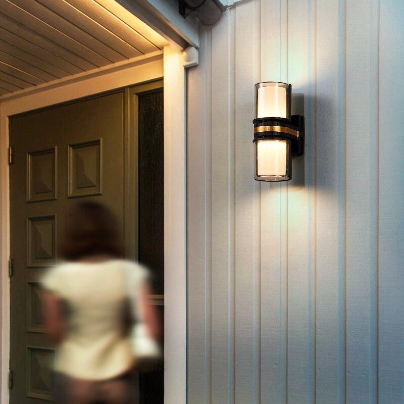 Simple Creative Wall Lamp Modern Outdoor Water Proof Up Down Light Outdoor Wall Light Stair Buitenlamp Garden Lights Ed50dj enlarge