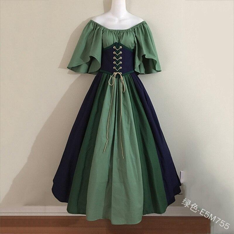 Medieval Vintage Elf Fairy Elven Costume For Women Princess Dress Waist Cincher Corset Tube Top Gown Dresses S-5XL