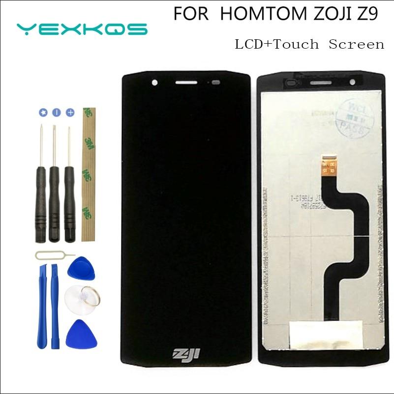 100% الأصلي HOMTOM ZOJI Z9 شاشة الكريستال السائل و شاشة تعمل باللمس ل HOMTOM ZOJI z9 شاشة محول الأرقام الجمعية استبدال أدوات