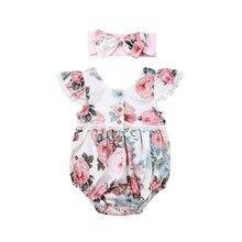 2 Stuks Mooie Geschenken Baby Meisjes Bloemen Kant Ruches Korte Mouwen Romper Baby Kant Jumpsuit Kleding Sunsuit Outfits 2020