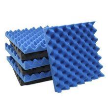 Promotion! 6 Pack Black + blue / Charcoal egg crate foam acoustic tiles soundproofing foam panels sound insulation soundproof fo