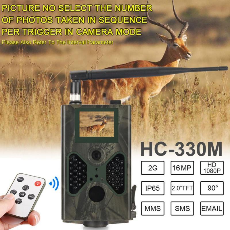 HC-330M câmera impermeável da trilha 1080p foto armadilha caça câmera wildlife monitoramento 60 ° detectando a visão noturna da escala 940nm