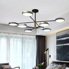 Moderne minimaliste macaron lustre led nordique intérieur salon chambre étude salle brillant éclairage