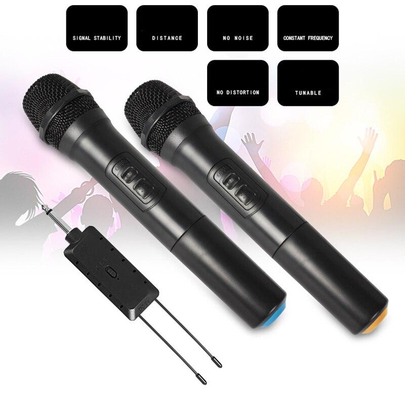 Универсальный УКВ беспроводной ручной микрофон с приемником для караоке/деловых встреч портативные микрофоны