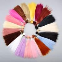 aidolla tress for dolls bjd wig 10100cm 20100cm milk silk straight hair wig doll accessories for diy 13 14 16 bjd doll