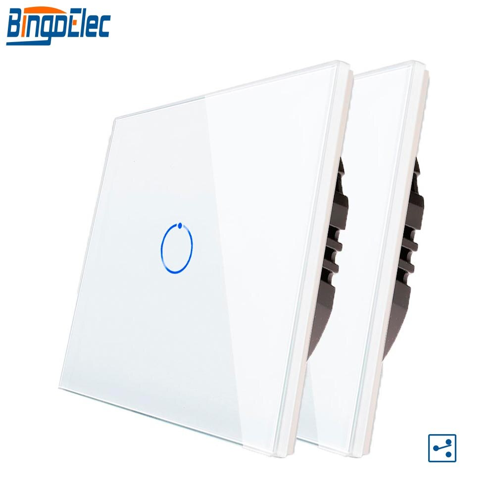 bingoelec 2 pacote interruptor de toque 1 gang 2 vias interruptor de parede da escada