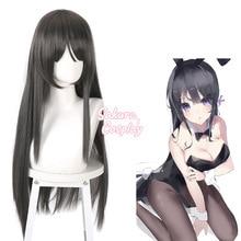 Anime Puella Magi Madoka Magica Akemi Homura Cosplay Black Long Straight Heat Resistant Synthetic Ha
