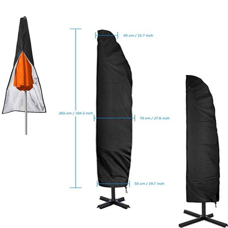 Открытый зонтик крышка Оксфорд ткань банан зонтик крышка сад зонтик солнцезащитный Зонт сад ветреный патио консольный umbre