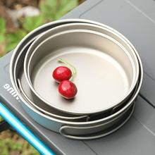 Ultralight Titanium 350ml Fry Pan Cookset Outdoor Camping Picnic Cookware Set With Folding Handles 2020
