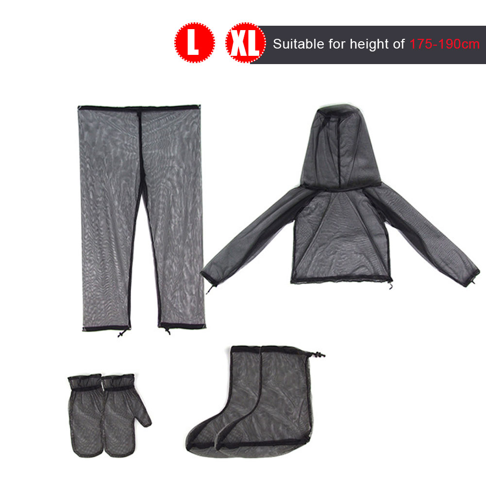Outdoor Mesh Light And Breathable Camping Adventure All-Round Insect Anti-Mosquito Set Summer Fishin Clothes Pants Gloves Foot enlarge
