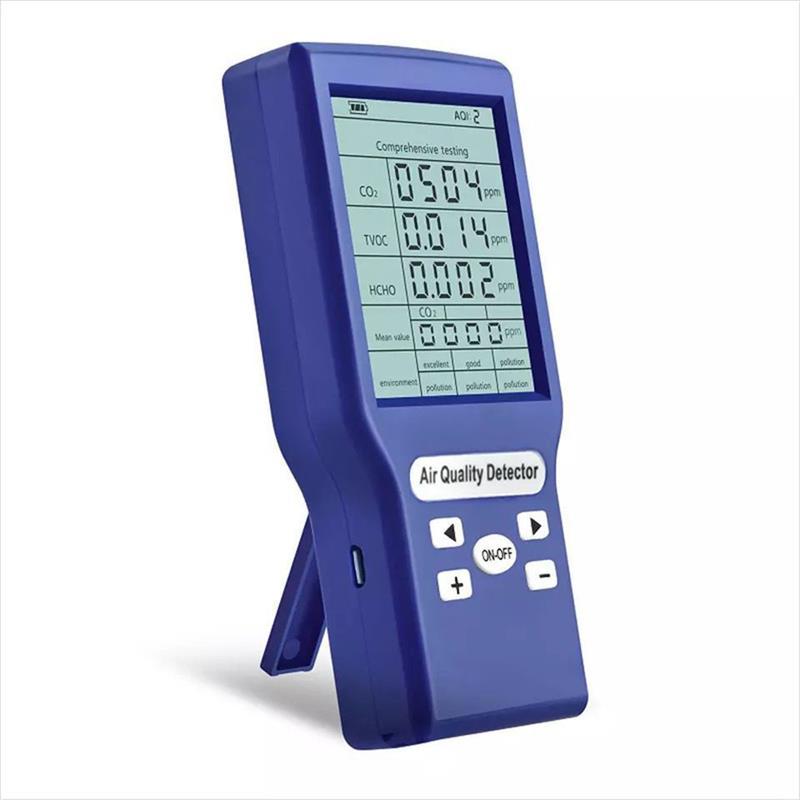 Digital CO2 Detector Tester Carbon Dioxide Meter Air Quality TVOC HCHO AQI Detector Laser PM2.5 Detectors Air Quality Monitor