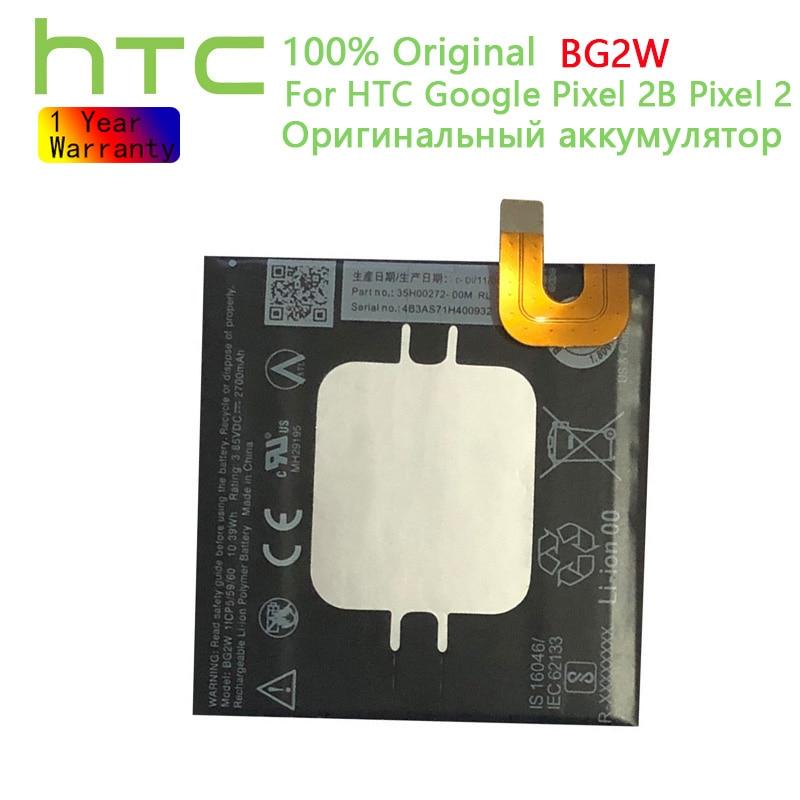 Оригинальные аккумуляторы HTC BG2W для HTC Google Pixel 2B Pixel 2 Muski мобильный телефон, сменные литий-ионные аккумуляторы 2700 мАч
