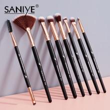 SANIYE Makeup Brushes Set Eye Shadow Blending Eyeliner Eyelash Eyebrow Make up Brushes Professional