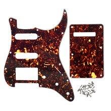NEUE Set von SSH Gitarre Schlagbrett HSS Zurück Platte Braun Schildkröte 4Ply mit Schrauben für FD Strat Gitarre Teile