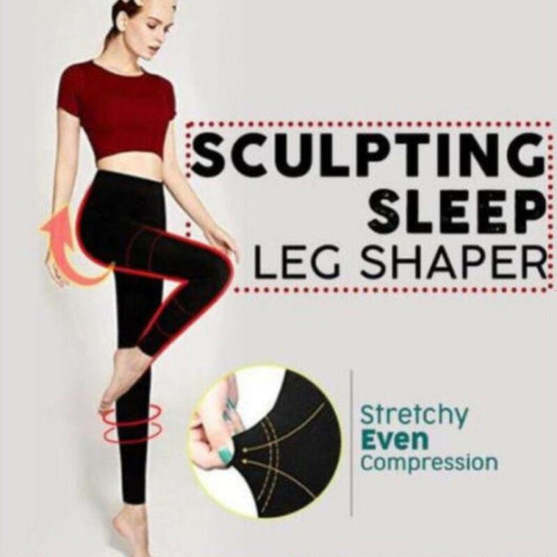 Fashion Sleep Leg Shaper hip lifting leg shaping Legging Reduces Swelling symptoms of Varicose Stretchy Lightweight Legging