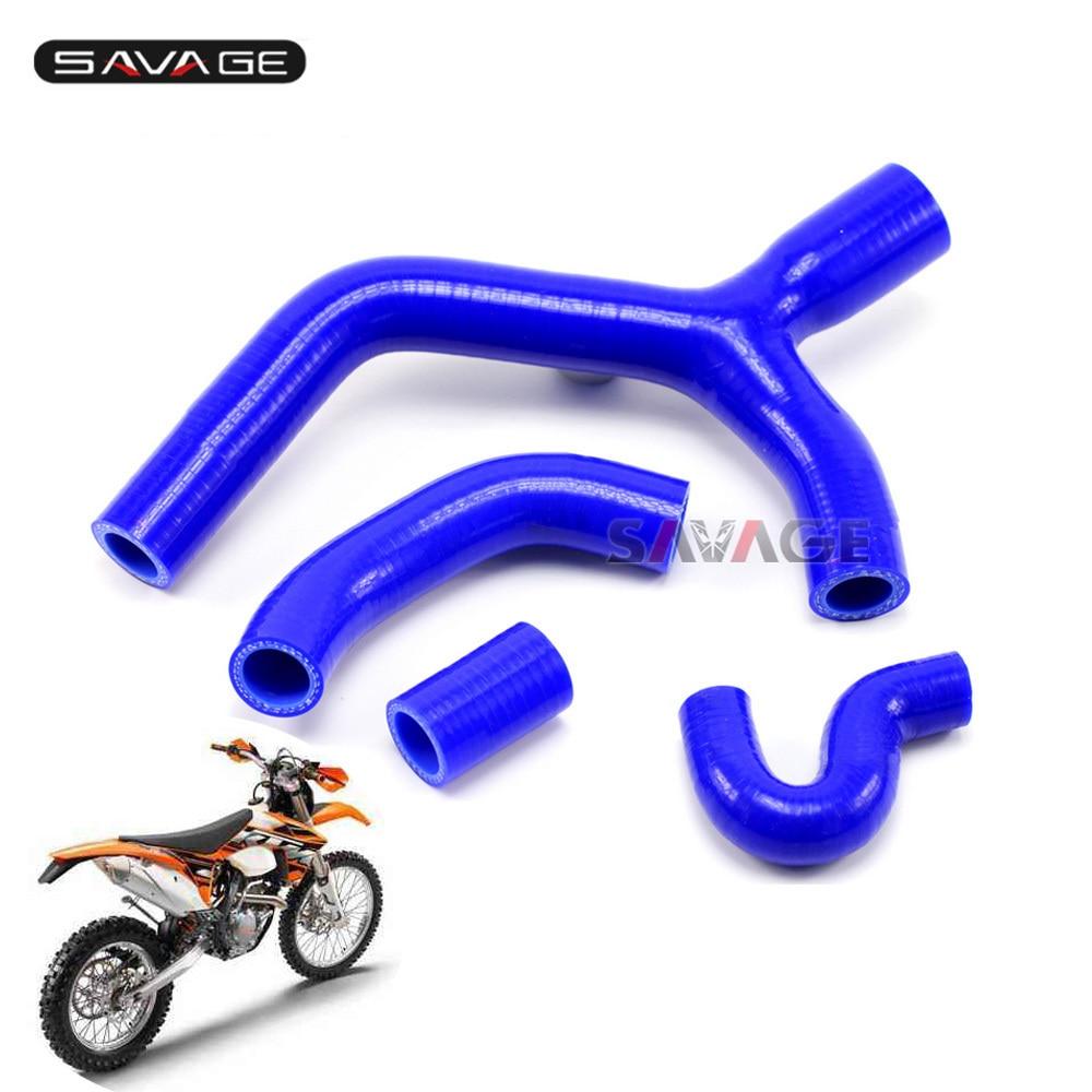 Para KTM 400 de 450 de 530 XCR-W EXC-R XC-W de la motocicleta Kit de manguera de radiador de silicona calentador de motor de tubería de agua