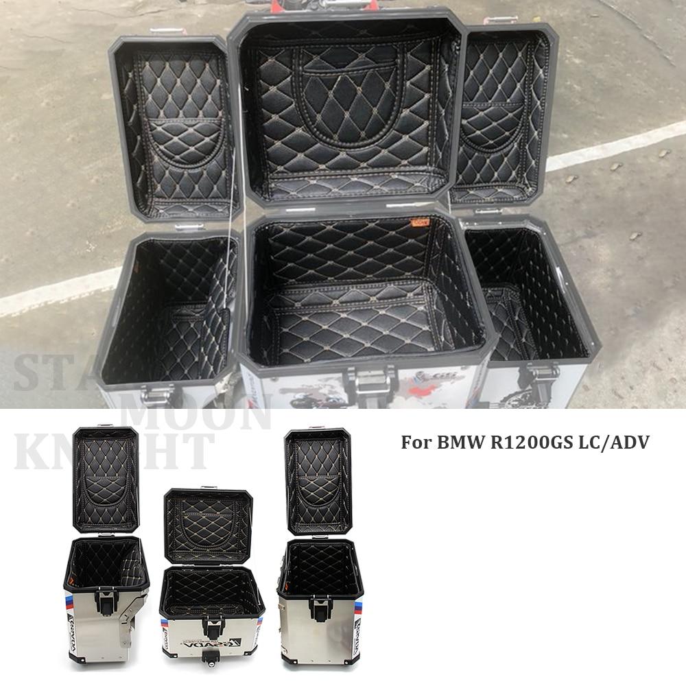 صندوق أمتعة خلفي حاوية داخلية الذيل الحقيبة الجذع الجانب السرج حقيبة الداخلية غطاء علوي حقيبة الداخلية لسيارات BMW F800 R1200 GS LC/ADV 13-17
