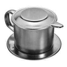 Filtre anti-goutte de café en acier inoxydable   Cafetière Portable, tasse à perfusion, bureau, maison, bureau, voyage, outils passoire à café