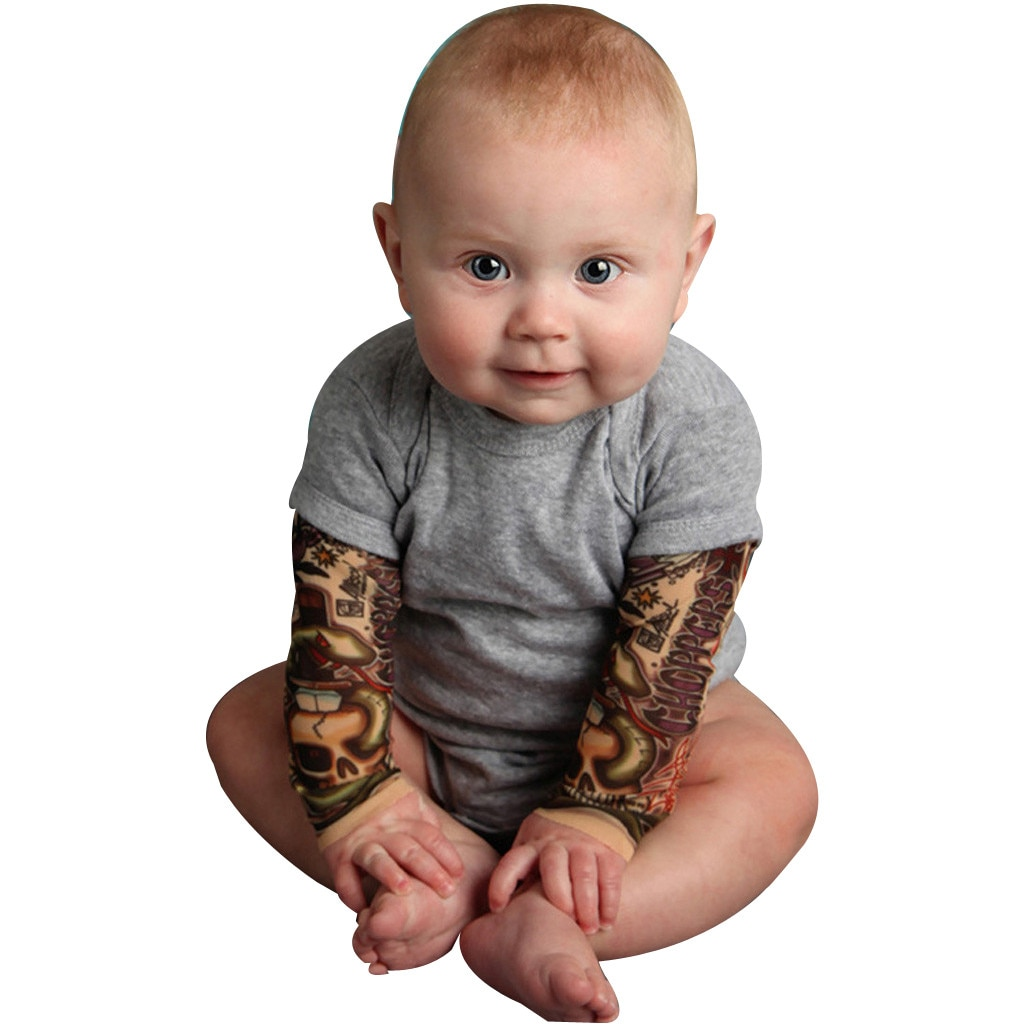 Ropa de bebé niño recién nacido bebé tatuaje impreso manga larga Patchwork mameluco otoño mono ropa bebe #0