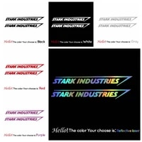 free shipping stark industries car stickers and decals car styling funny auto stickers and decals car accessories
