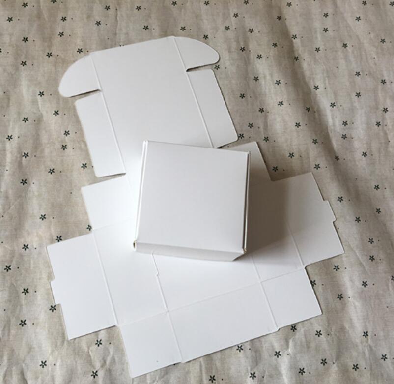 50 Uds blanco Natural Embalaje de papel caja de Cajas de cartón...