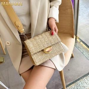 MANHAN Mini Weaving Crossbody Bags for Women 2020 Summer Ladies Leather Purses and Handbags Female Travel Shoulder Simple Bag
