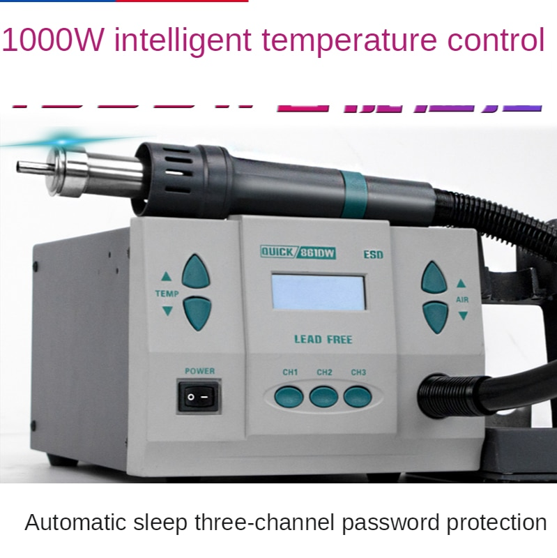 Lead-free smart phone repair hot air gun