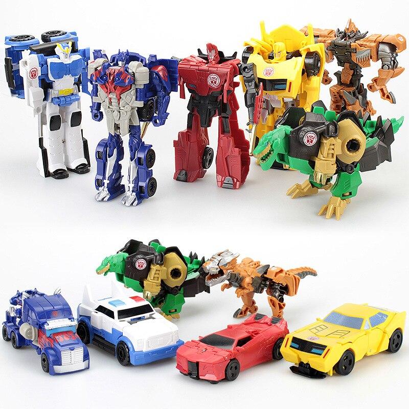 12 см набор трансформационных роботов Игрушки трансформер 2 в 1 один шаг деформация Оптимус Хорнетс модель деформированная Автомобильная иг...