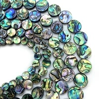 abalone shell beads round perforated fashion charm ladies for diy making bracelets necklace earrings accessories wholesale