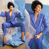 new design women suits two buttons costom made for photo catwalk party prom wedding blazer pants 2 pieces