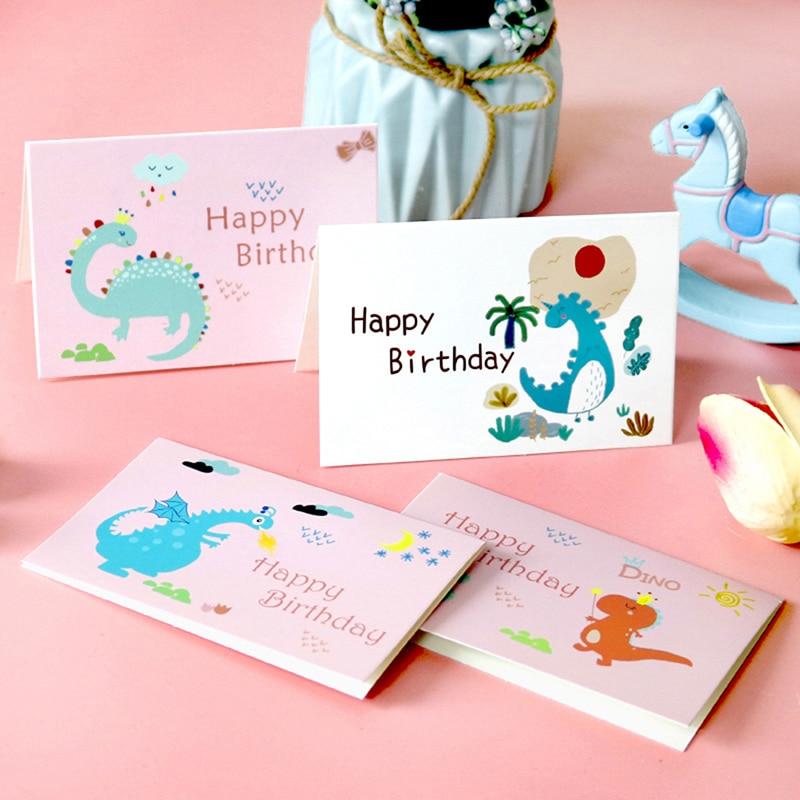 6 комплектов в партии с днем рождения открытки с Конверты и наклейки складные открытки пустой внутри открытки на день рождения