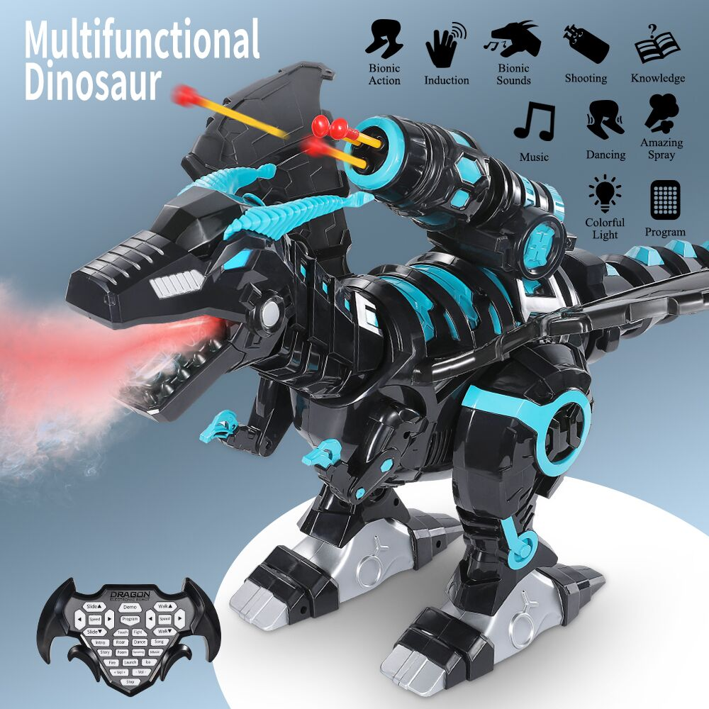 Mist Spray Remote Control Dinosaurs Toys Electric Dinosaur RC Robot Animals Educational Toys for Children Boys Gifts