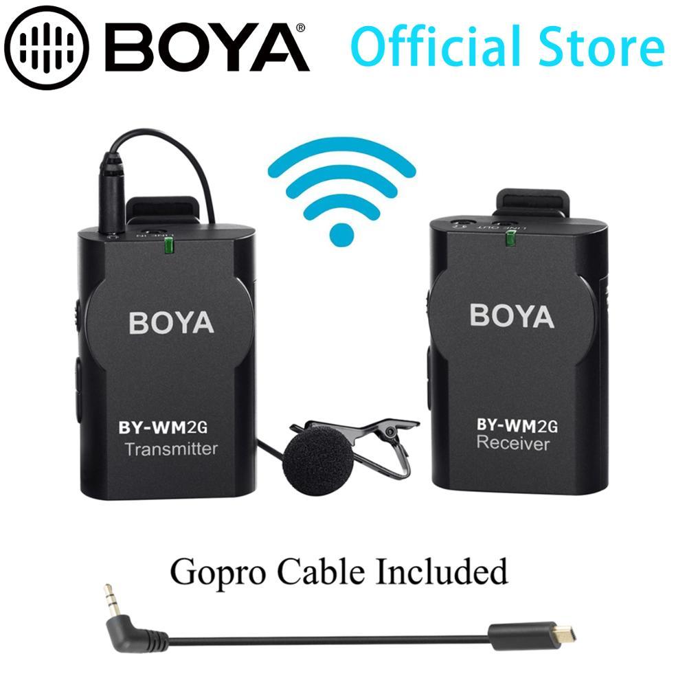 BOYA de solapa con micrófono inalámbrico GoPro convertidor de Cable para Podcast GoPro Hero3 3 + 4 IOS Smartphone iPad Tablet cámara DSLR