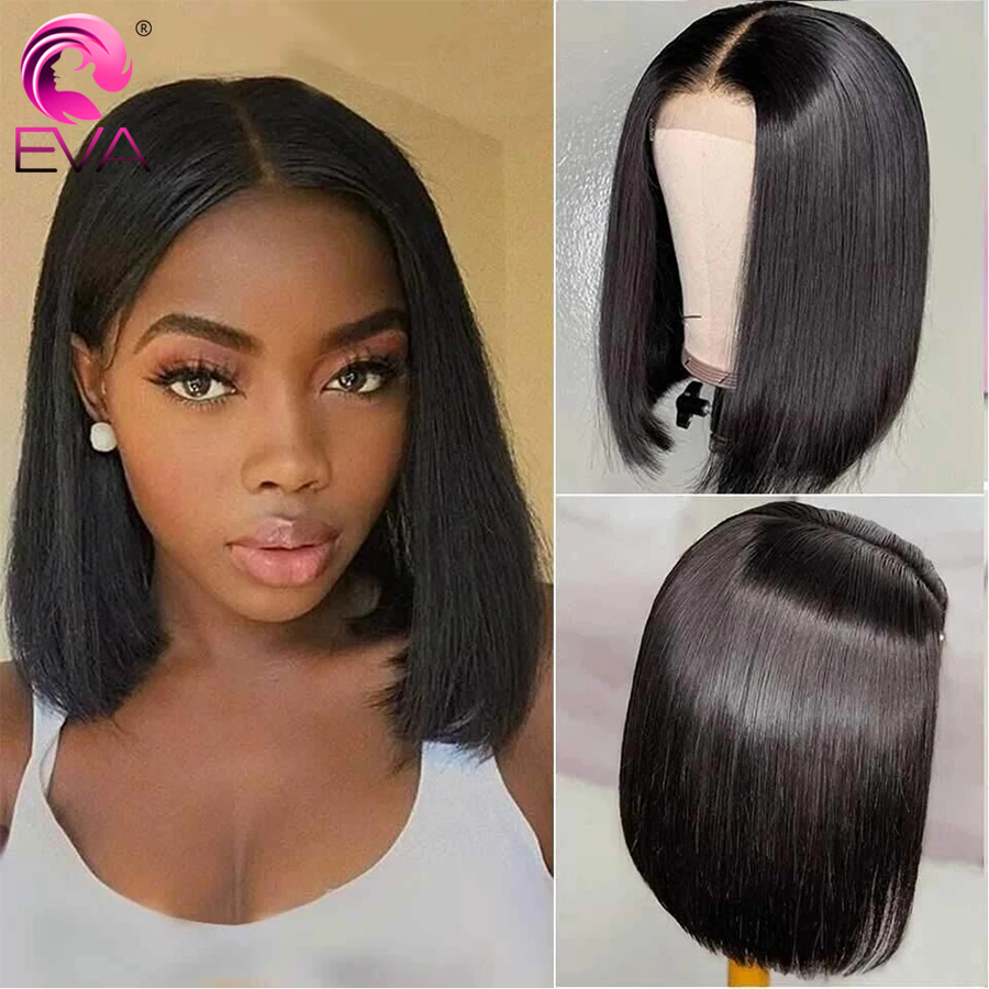 12 Inch Short Bob Wigs Human Hair Lace Closure Wigs Brazilian Remy Human Hair Straight Bob lace Front Wigs For Black Women