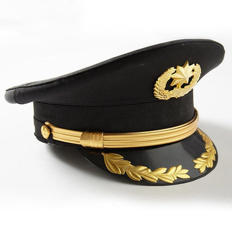 نمط جديد بلغ ذروته غطاء أمن الممتلكات دا غاي ماو دا يان ماو الأسود بروتوكول و آداب البواب الأصفر حافة قبعة 2020