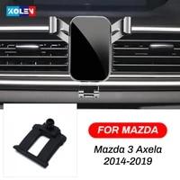 for mazda 3 axela 2014 2015 2016 2017 2018 2019 car mobile phone holder gravity air vent stand smart phone navigation bracket