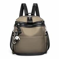 waterproof nylon women backpack 2021 new fashion large capacity travel backpack school bags for teenage girls mochila