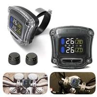 motorcycle tire pressure monitoring system temp waterproof handlebar lcd display motorcycle tire pressure detector