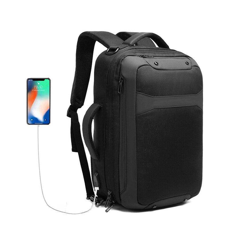 حقيبة ظهر للكمبيوتر المحمول مقاس 15.6 بوصة للرجال ، حقيبة ظهر للأعمال مع شاحن Usb ، حقيبة سفر كبيرة السعة من النايلون 2020