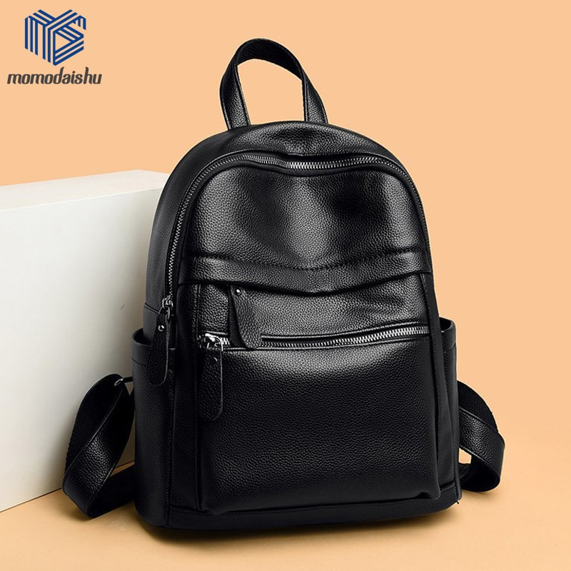 2021 High Quality Backpack PU Leather Backpacks Women Travel Backpack School Bags For Teenage Girls Shoulder Bag