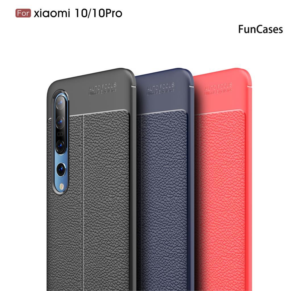 Lychee-Fundas protectoras con patrón de piel para Xiaomi, Protector suave de TPU...