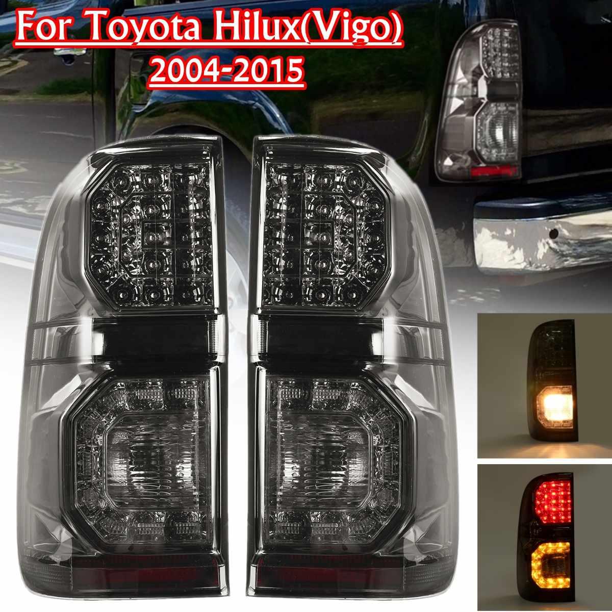 Luz Led trasera de coche para Toyota Hilux Vigo KUN26 SR SR5 Workmate 2004-2015 luz trasera freno trasero luz antiniebla accesorios Led