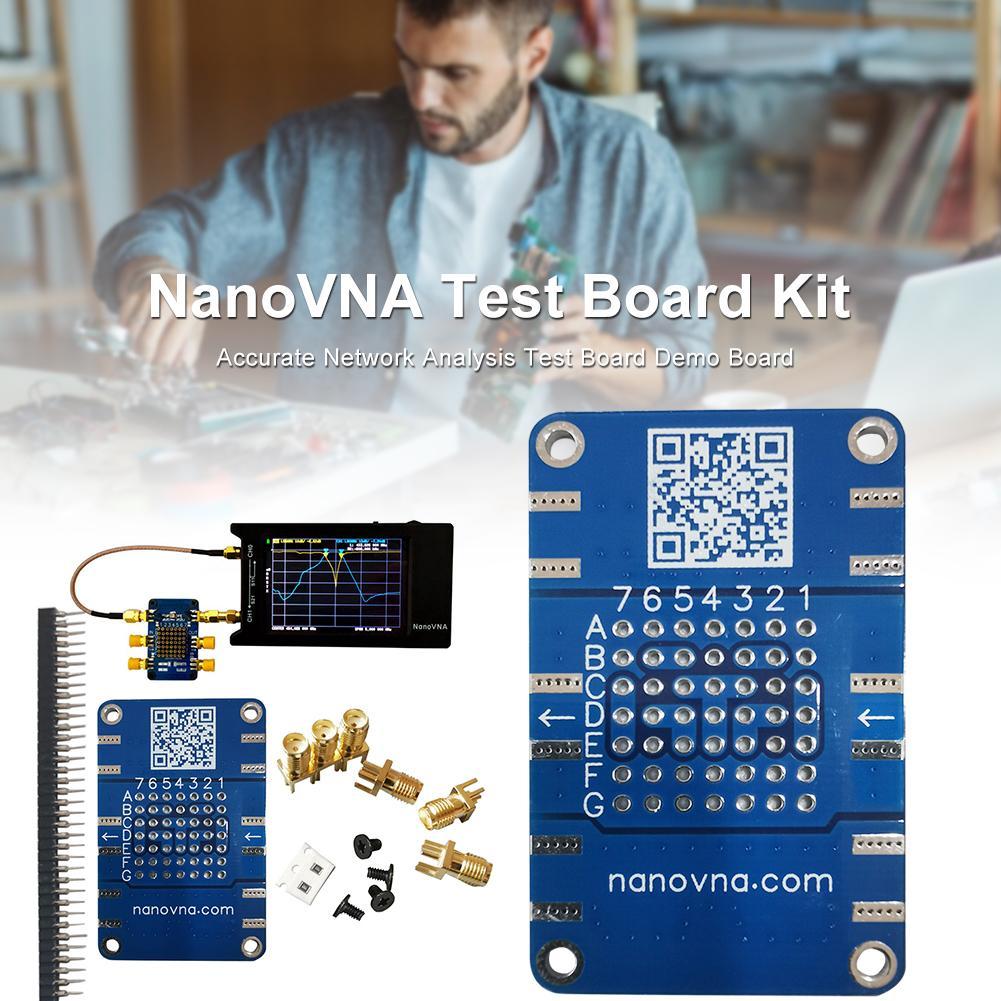 NanoVNA Testboard de Vector de kit de análisis de red de prueba Junta Placa de demostración para NanoVNA-F NanoVNA-H4 I2-009