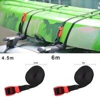 1pc tie down roof rack straps pair silicone buckle 4 5m6m heavy duty kayak lashing strap roof rack straps kayak board tie