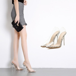 shoes light mouth sexy wedding shoes women's single season transparent pointed thin high-heeled shoes