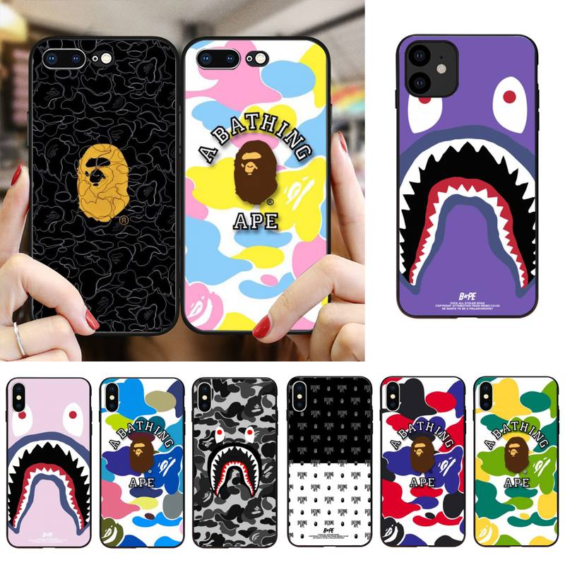 Babaite BAPE funda para teléfono para iPhone SE2 11 Pro XS MAX XS XR 8 7 6 Plus 5 5S SE caso