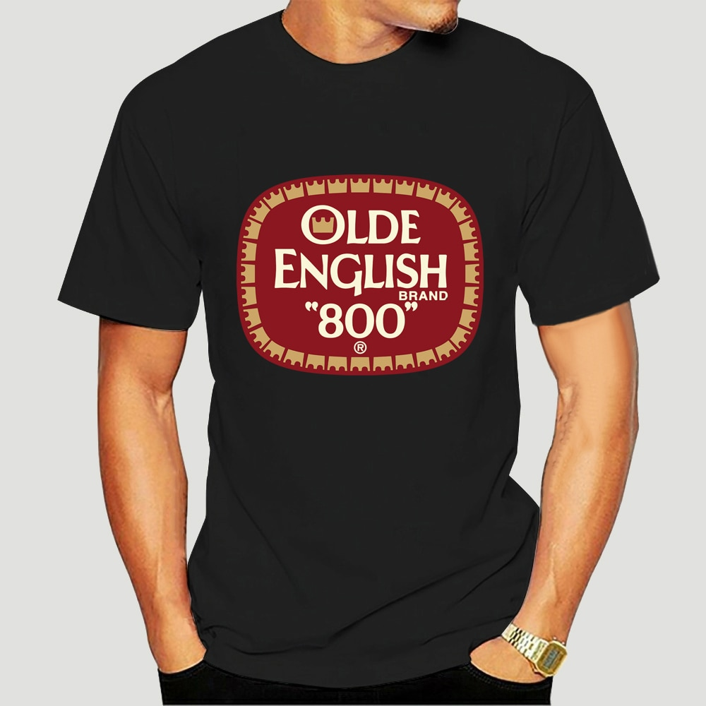 Olde-camiseta negra en inglés alta calidad 800 ¡Los barcos rápido! 4439X