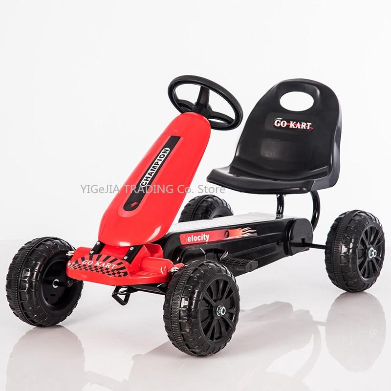 Pedal Go Kart para niños con ruedas sólidas EVA, Pedal Go Kart para niños de 4 ruedas